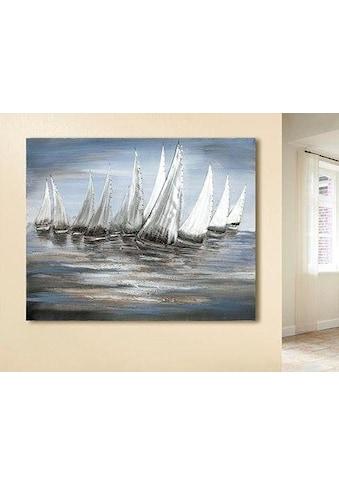 GILDE Leinwandbild »Gemälde Stormy Regatta«, Boote & Schiffe, (1 St.), handgemalt,... kaufen