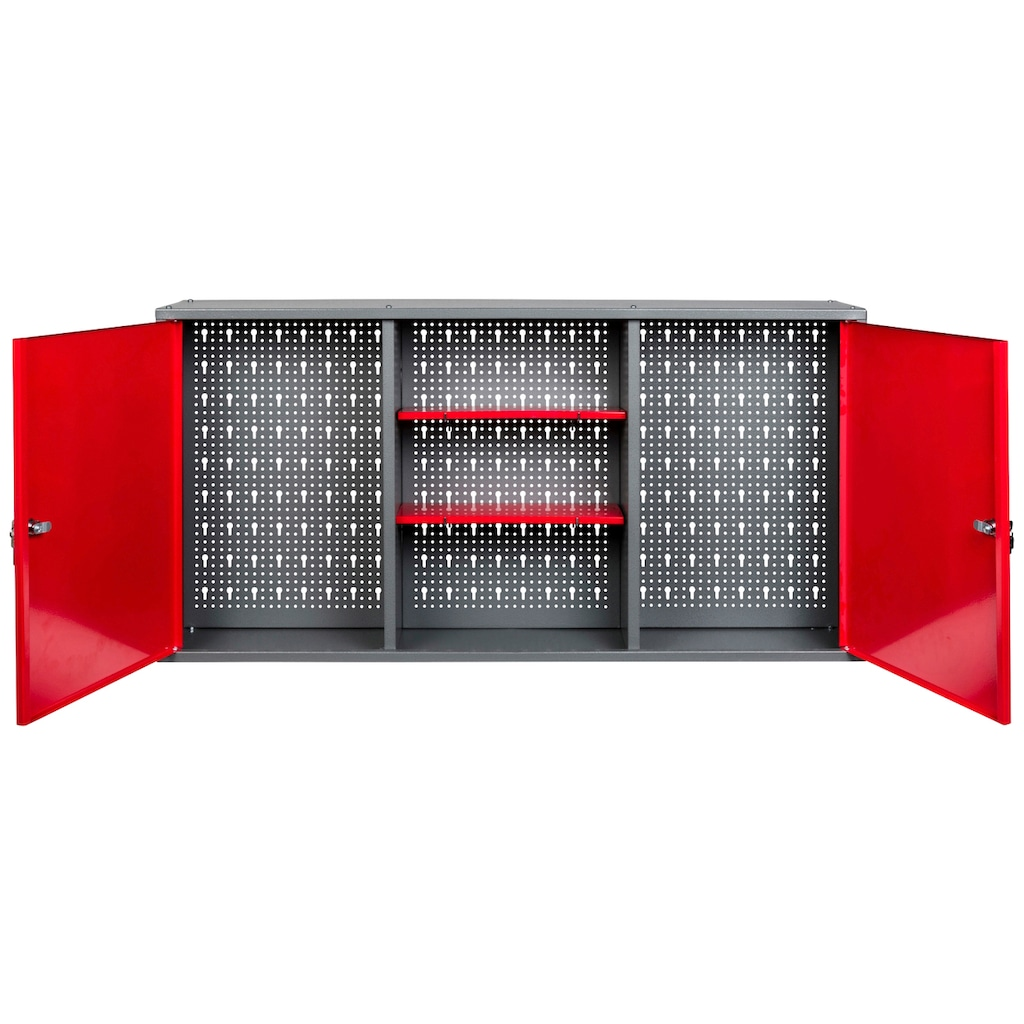 Kreher Werkzeugschrank, B/T/H: 120x19x60 cm, 2-türig, abschließbar