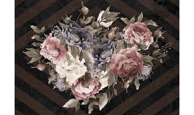 Consalnet Papiertapete »Blumenstrauß/Streifen«, floral kaufen