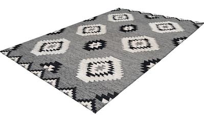 calo-deluxe Teppich »Kibo 1005«, rechteckig, 10 mm Höhe, Flachgewebe mit Struktur,... kaufen