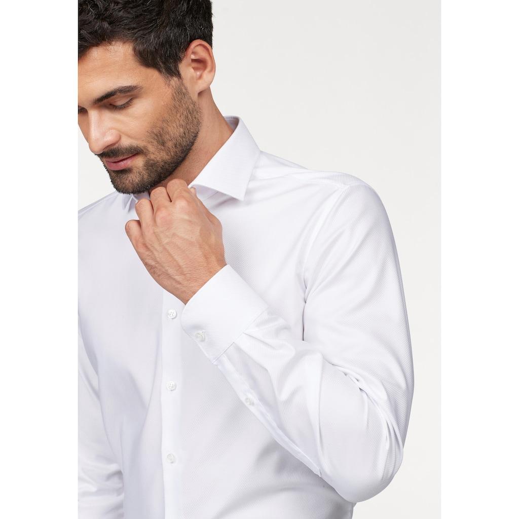 OLYMP Businesshemd »Level Five body fit«, gewebtes Muster, edler Glanz