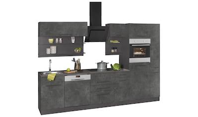 HELD MÖBEL Küchenzeile »Tulsa«, ohne E-Geräte, Breite 300 cm, schwarze Metallgriffe,... kaufen