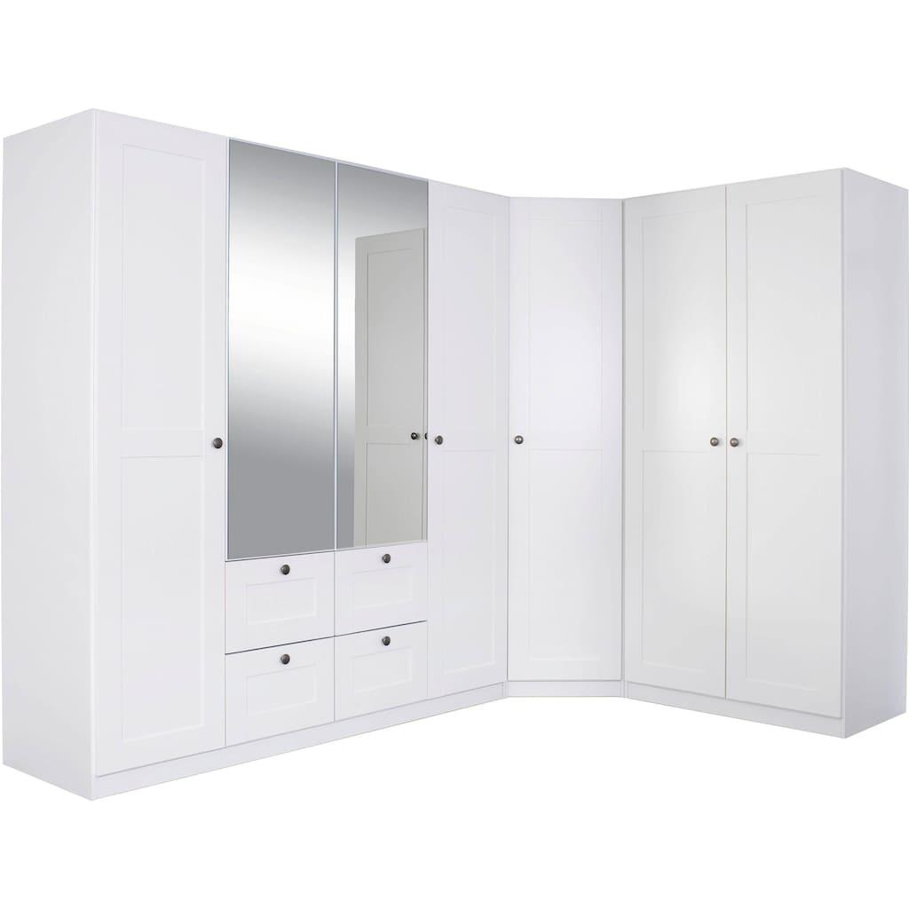 rauch ORANGE Schrank-Set »Skagen«, (3 St.), Eckschrank, 2- und 4-trg. Schrank mit Schubkästen und Spiegel