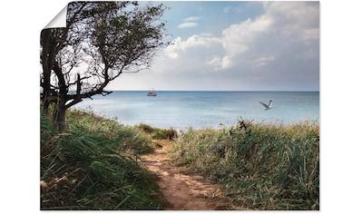 Artland Wandbild »Wege zum Meer....«, Gewässer, (1 St.), in vielen Größen &... kaufen