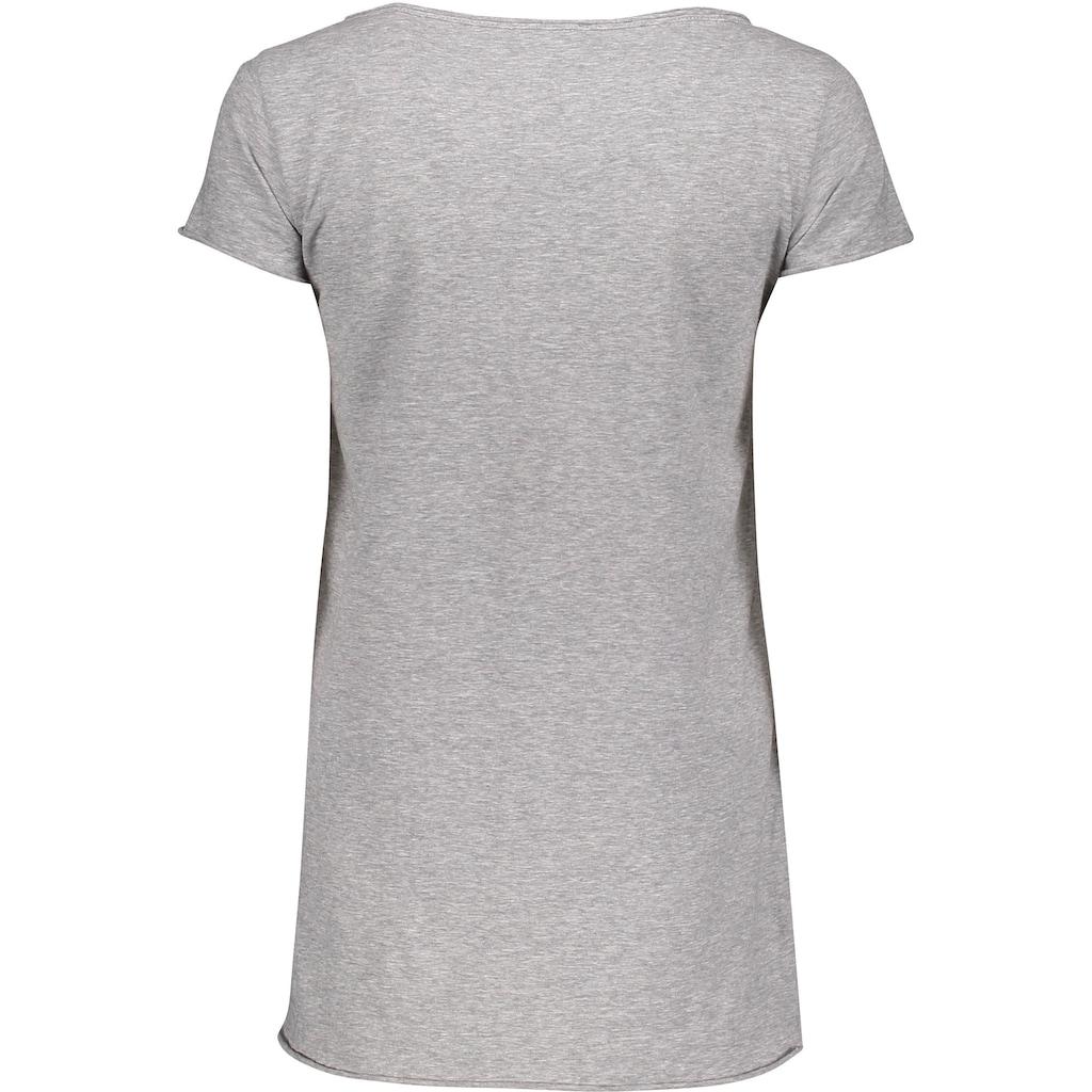 Please Jeans T-Shirt »M00A«, mit Please Metal-Label und leicht angeschnittenen Saumabschlüssen