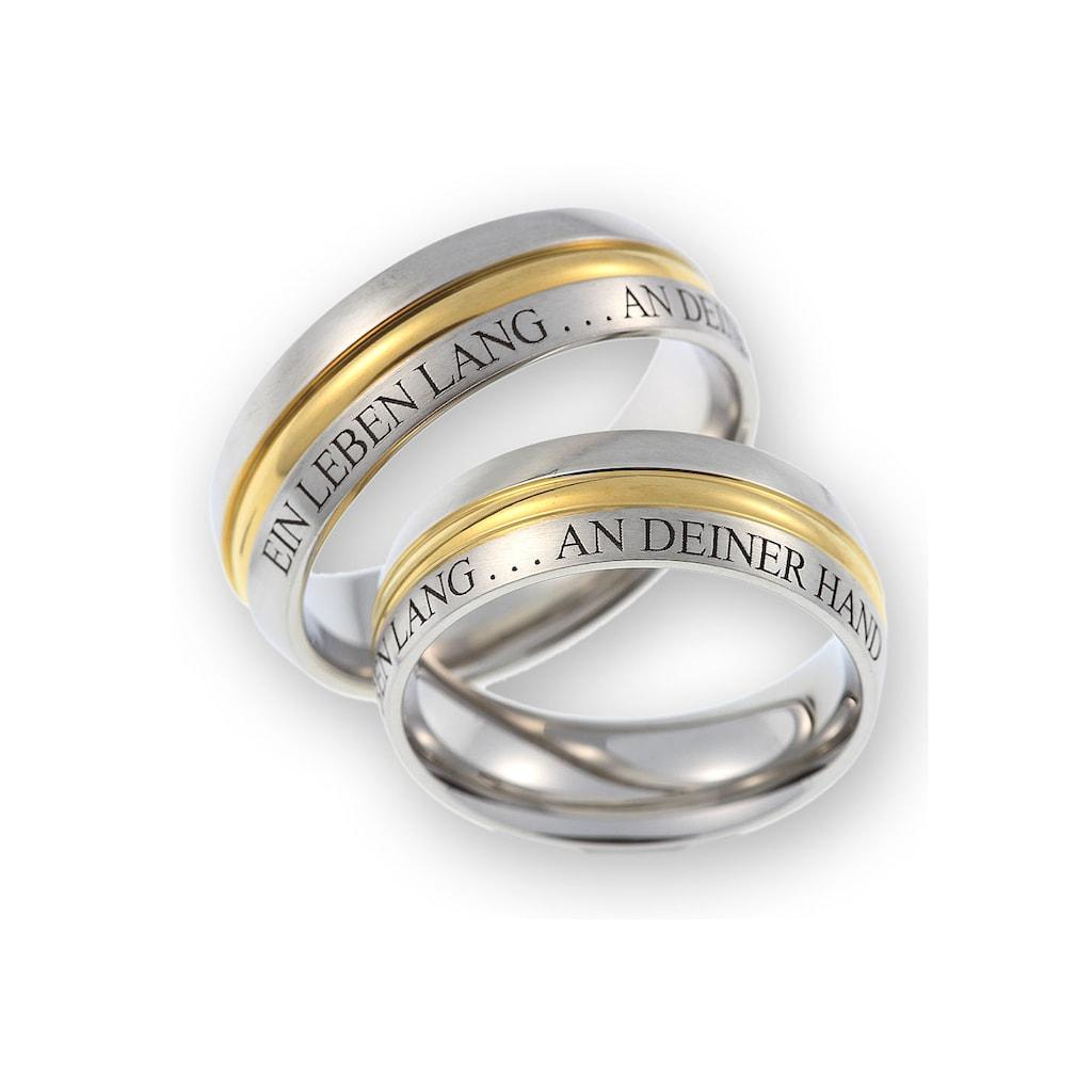 CORE by Schumann Design Trauring »feste Außengravur EIN LEBEN LANG ... AN DEINER HAND, TE301.02, 10009077«, Made in Germany