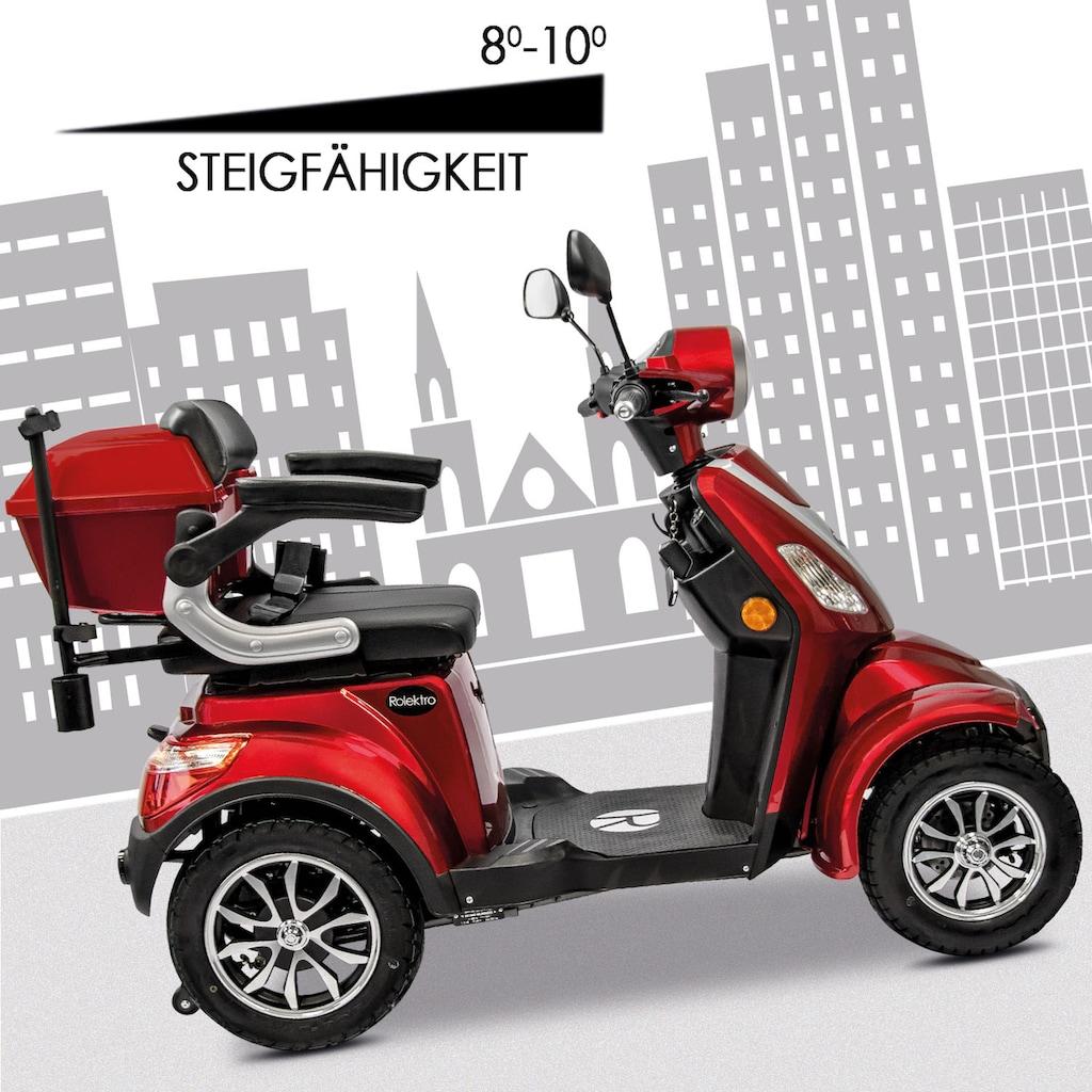 Rolektro Elektromobil »Rolektro E-Quad 15 V.3 Lithium«, 1000 W, 15 km/h, (mit Topcase)