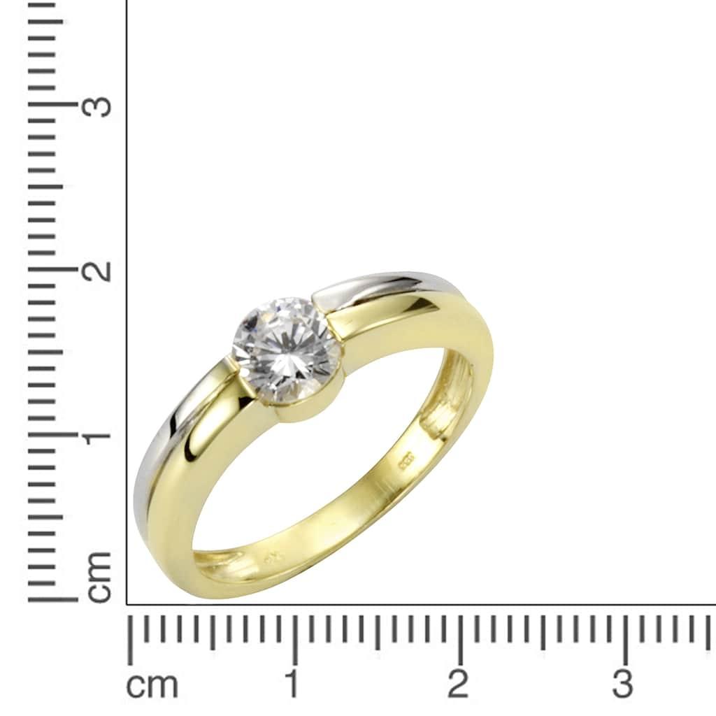 Vivance Fingerring »333/- Gold bicolor Zirkonia«