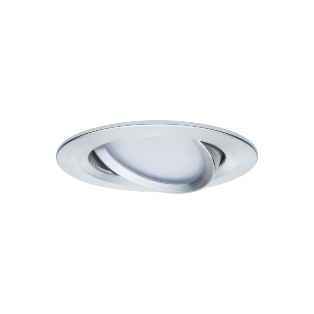 Paulmann LED Einbaustrahler »schwenkbar Nova rund 3x6,5W GU10 Alu gedreht«, GU10, 3 St.