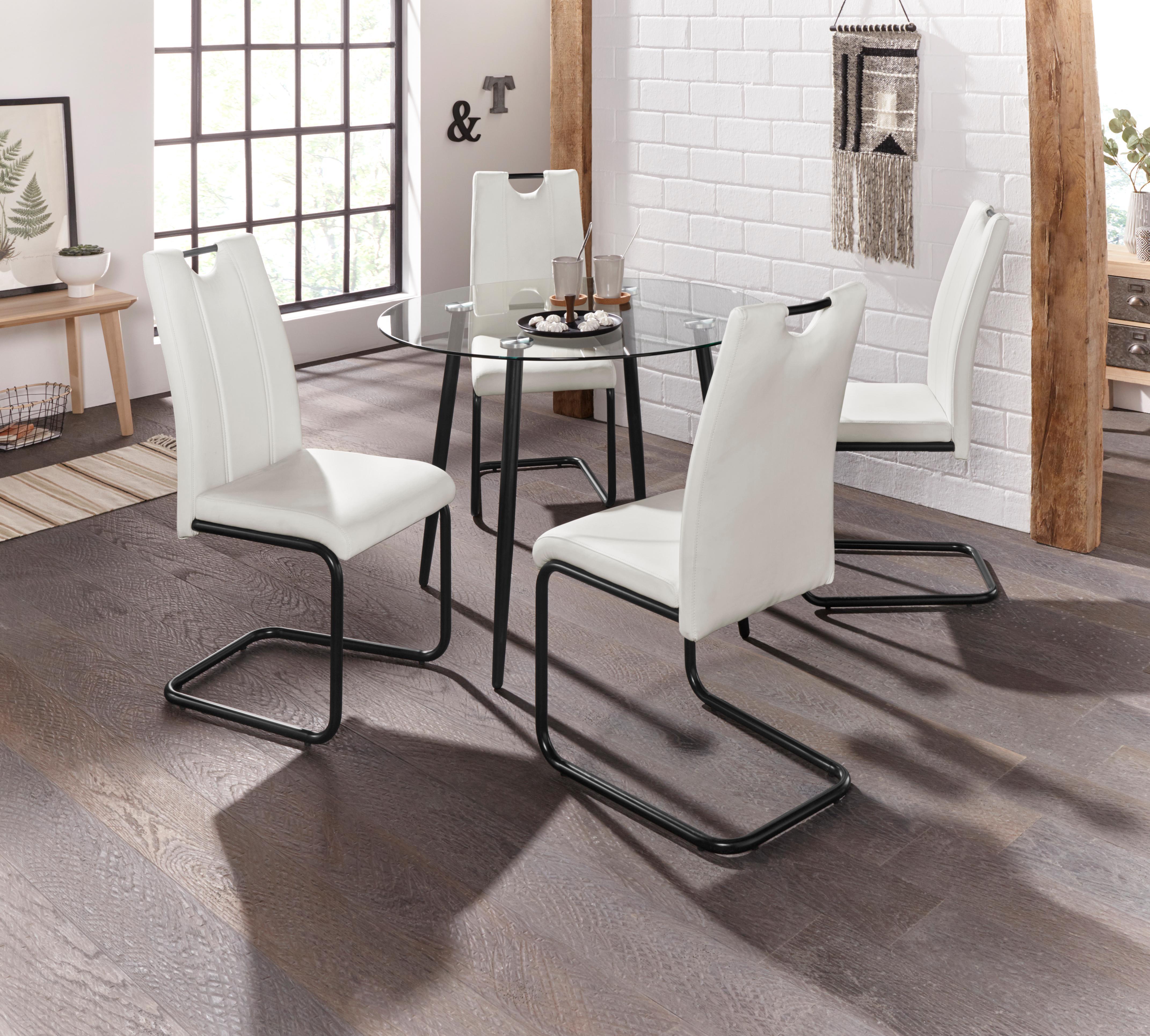 Essgruppe Danny - Linea mit rundem Esstisch und 4 Stühlen