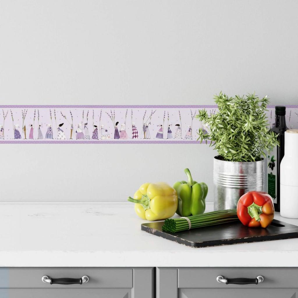 Wall-Art Wandtattoo »Schlafzimmer Bordüre Lavendel«