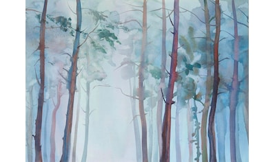 living walls Fototapete »Aquarellwald Vlies«, 350 x 255 cm kaufen