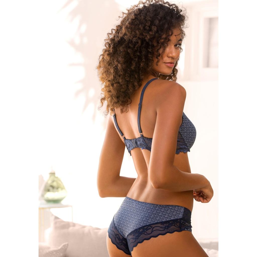 LASCANA Schalen-BH »»perfect basic««, mit Bügel und Rücken aus floraler Spitze