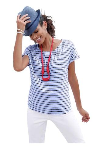 Casual Looks  Bluse in modischer Seersucker - Qualität kaufen