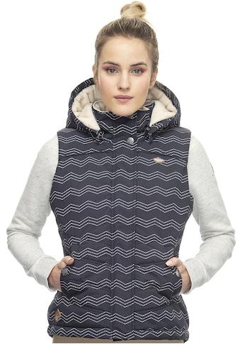 Ragwear Steppweste »HESTY«, im maritimen Allover-Print kaufen