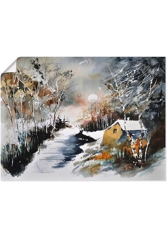 Artland Wandbild »Haus im Winter«, Europa, (1 St.), in vielen Größen & Produktarten -... kaufen