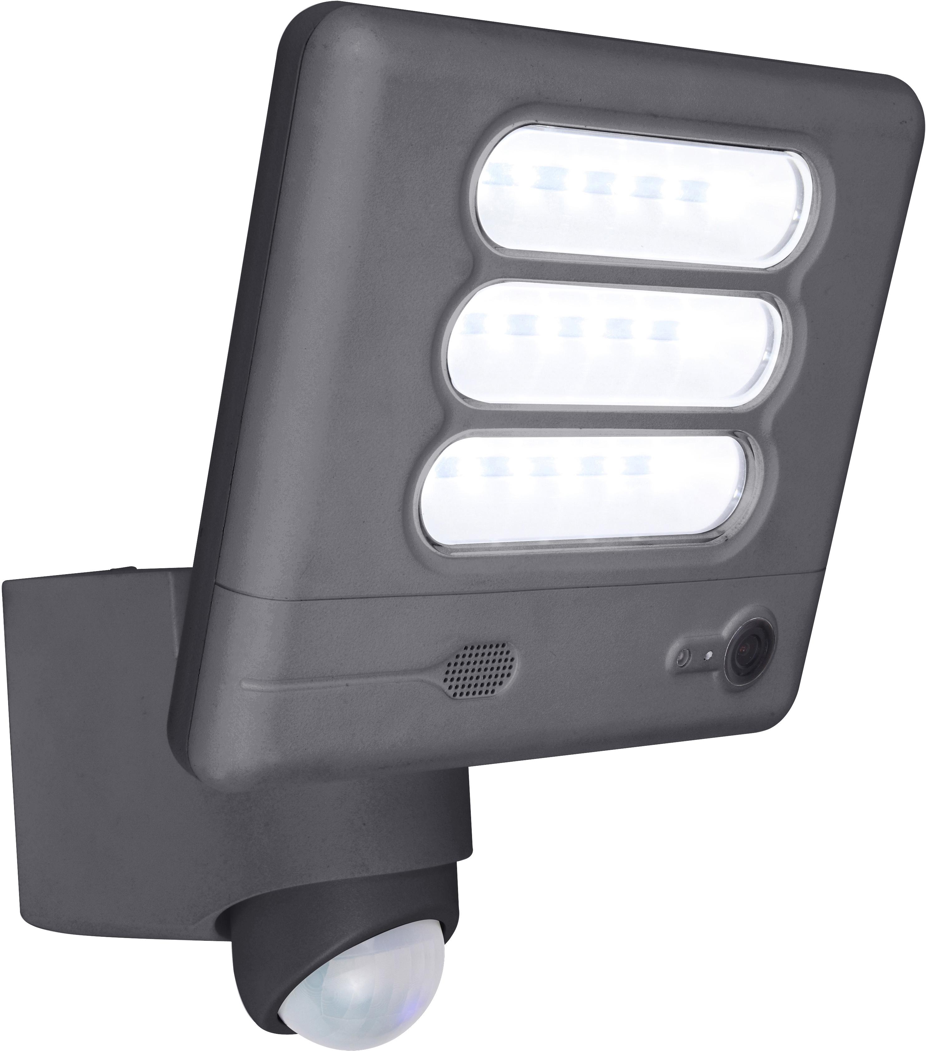 LUTEC LED Außen-Wandleuchte ESA HD 6255-CAM GR, LED-Modul, 1 St., Neutralweiß, Kameraleuchte
