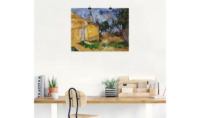 Artland Wandbild »Die Hütte Jourdans«, Wiesen & Bäume, (1 St.), in vielen Größen &... kaufen