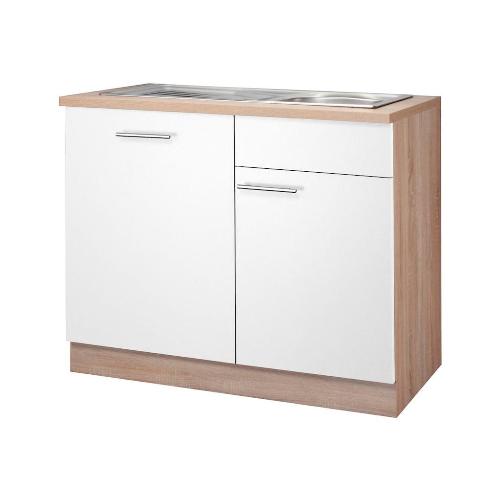 wiho Küchen Spülenschrank »Montana«, 110 cm breit, inkl. Tür/Griff/Sockel für vollint. Geschirrspüler