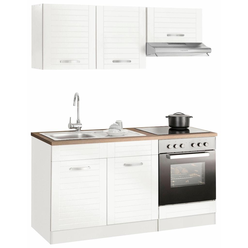 HELD MÖBEL Küchenzeile »Falun«, mit E-Geräten, Breite 160 cm