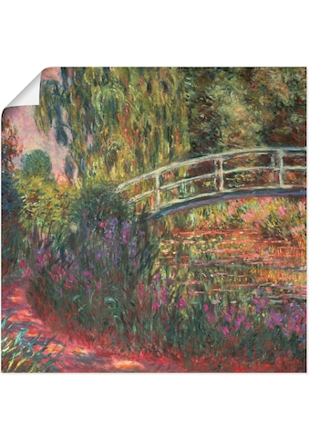 Artland Wandbild »Japanische Brücke im Garten von Giverney«, Garten, (1 St.), in... kaufen
