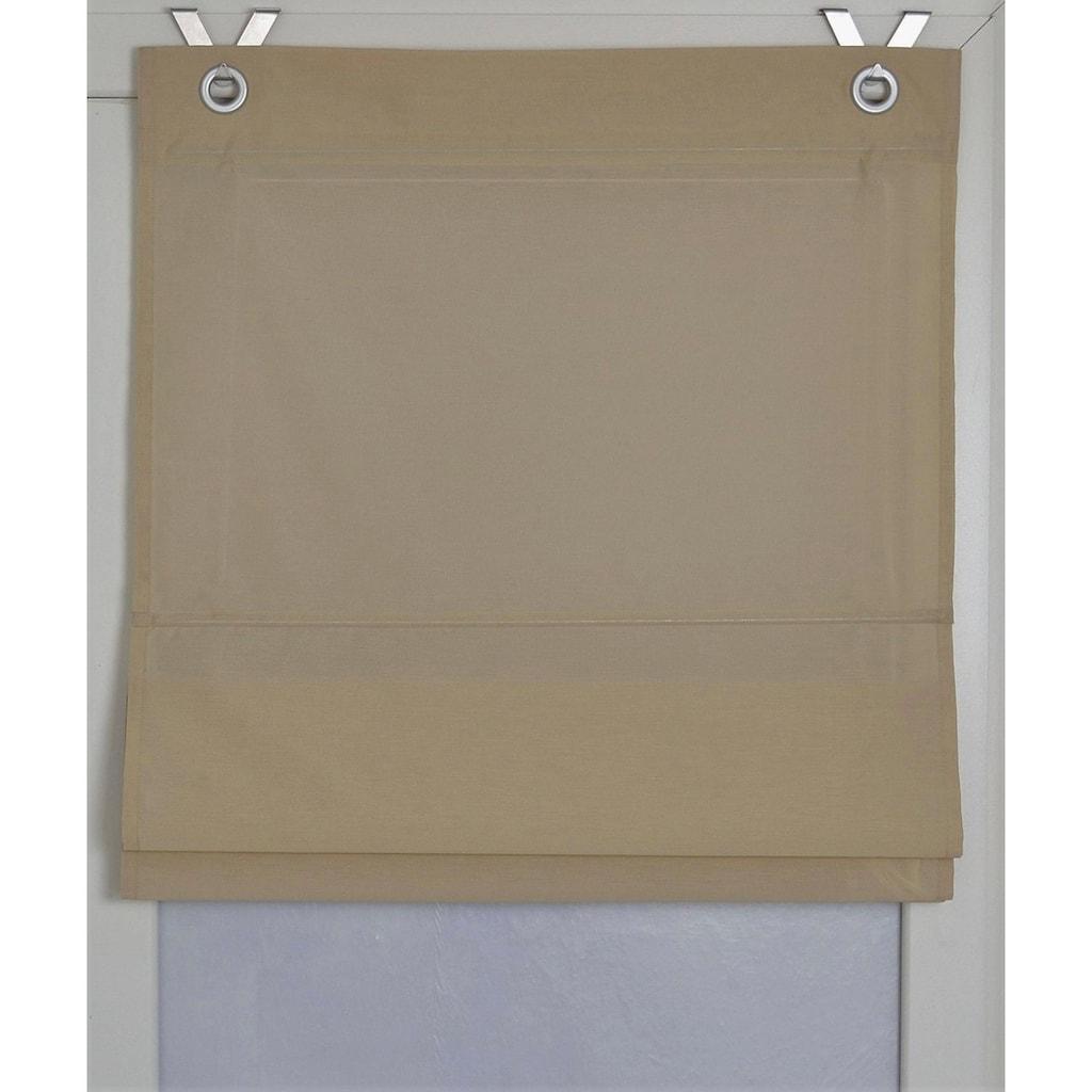 Kutti Raffrollo »Kessy Bessy«, mit Hakenaufhängung, ohne Bohren, freihängend, mit Ösen, incl. Fensterhaken