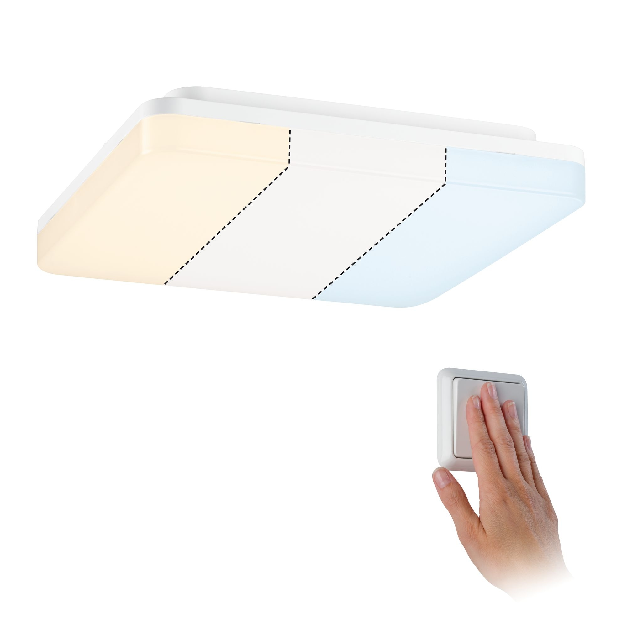 Paulmann,LED Deckenleuchte Panel Cela WhiteSwitch 280x280mm 15,5 W Weiß