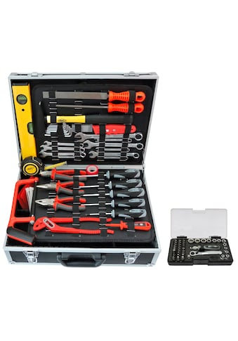 FAMEX Werkzeugset »754-50«, (83 St.), befüllter Werkzeugkoffer kaufen