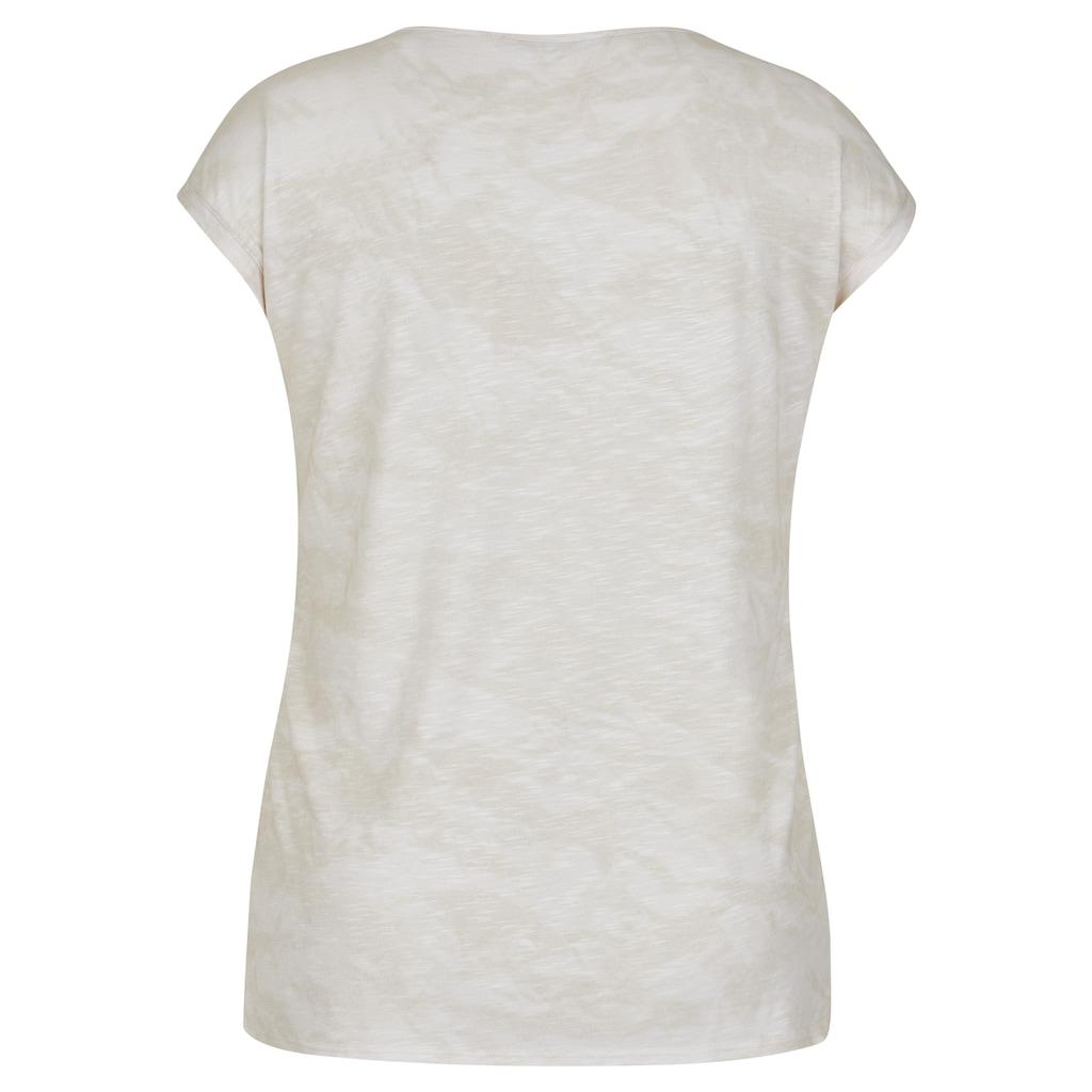 LeComte Print-Shirt, mit floralem Print und Glitzer-Effekt