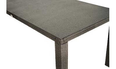 PLOSS Gartentisch »Rocking«, Polyrattan/Alu, 170x75x90 cm kaufen