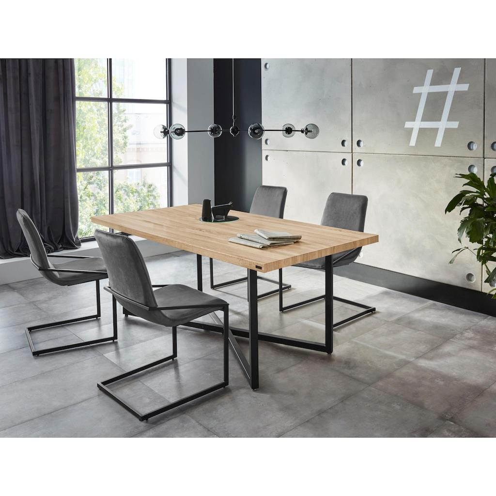 INOSIGN Essgruppe »Domitus«, (Set, 5 tlg.), aus Holzwerkstoff, bestehend aus Claudell Esstisch und 4 Napea Stühlen