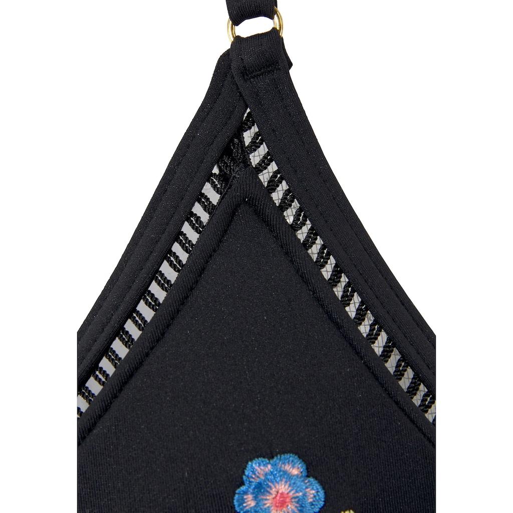 Sunseeker Triangel-Bikini, mit Stickerei
