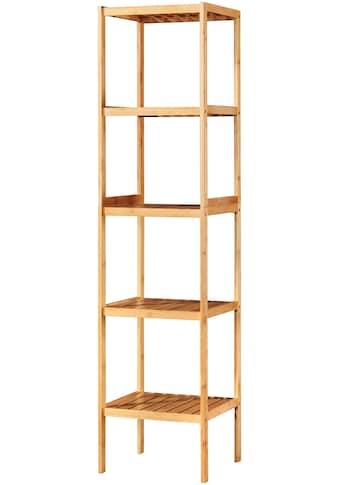 welltime Badregal »Bambus«, Breite 34 cm, 5 Ablagen kaufen