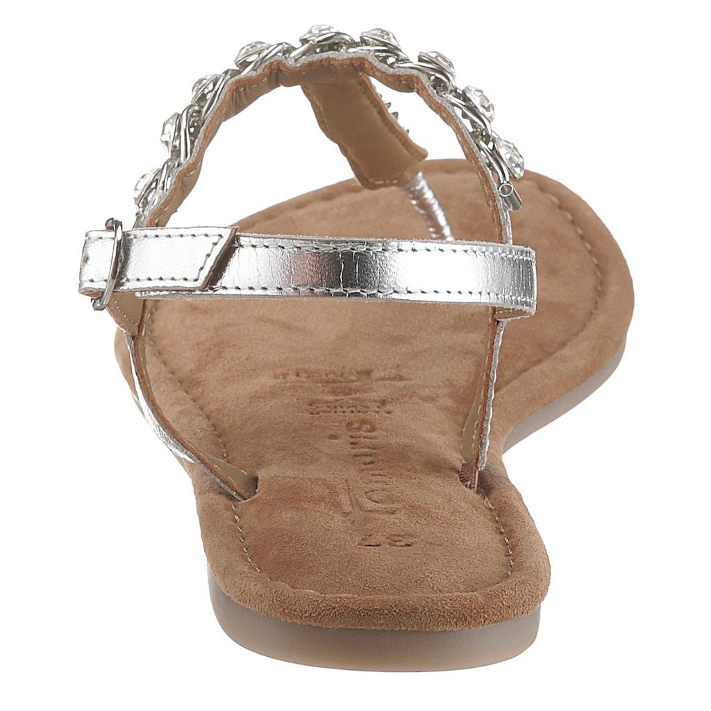 Tamaris Sandale »Milos«, im trendigen Metallic-Look