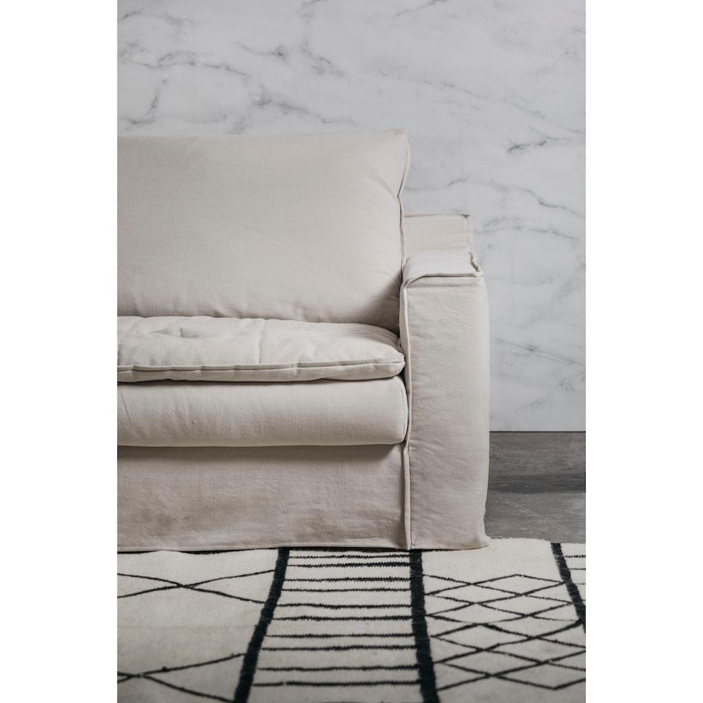 furninova Ecksofa »Kibo«, abnehmbarer und waschbarer Hussenbezug, Kissen mit Federn gefüllt, Memoryschaum, im skandinavischen Design