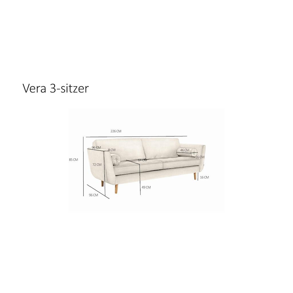 furninova 3-Sitzer, inkl. 2 Kissenrollen