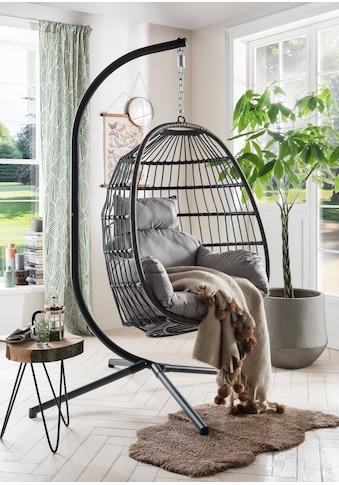 DESTINY Hängestuhl »Coco Relax«, Polyrattan/Stahl, inkl. Sitz -  und Rückenkissen kaufen