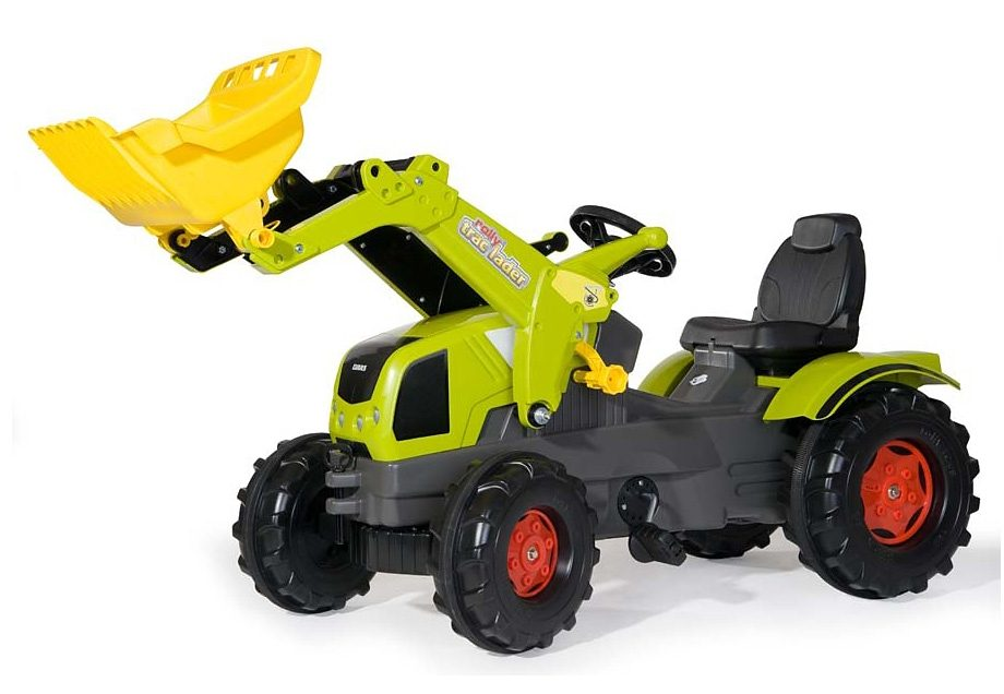 rolly toys® Trettraktor mit Frontlader und Flüsterreifen  rollyFarmtrac Claas Axos 340  Preisvergleich