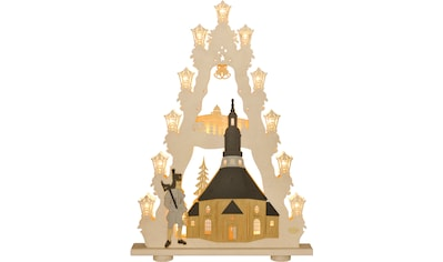 Weigla LED Lichterbogen »Seiffener Kirche«, 1 tlg., Lichterspitze, 15-flammig, mit 3D-Effekt kaufen