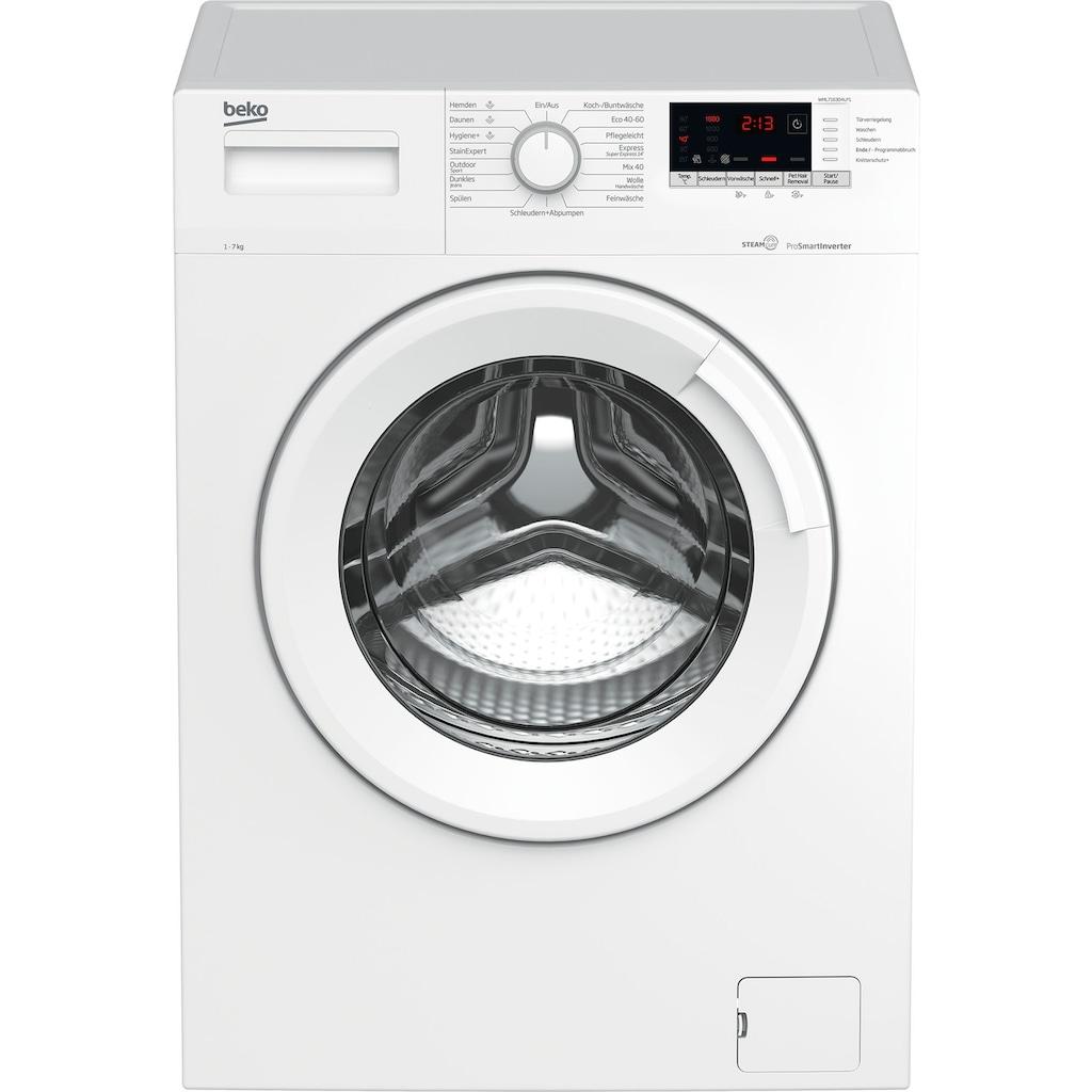 BEKO Waschmaschine »WML7163O4LP1«, WML7163O4LP1, 7 kg, 1600 U/min