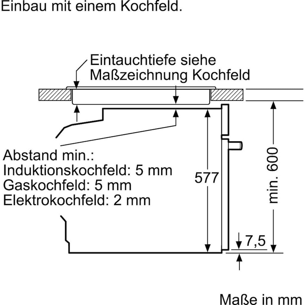 NEFF Pyrolyse Backofen »B55CR22N0«, N 70, B55CR22N0, mit Teleskopauszug nachrüstbar, Pyrolyse-Selbstreinigung, mit Slide&Hide®