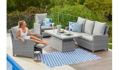 KONIFERA Loungeset »Arizona«, 16 - tlg., 1x 3 - er Sofa, 2 Sessel, Tisch 150x85 cm, Polyrattan kaufen