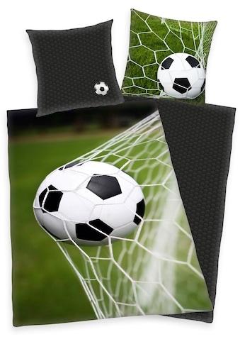 Herding Wendebettwäsche »Fußball«, mit Ball im Netz kaufen