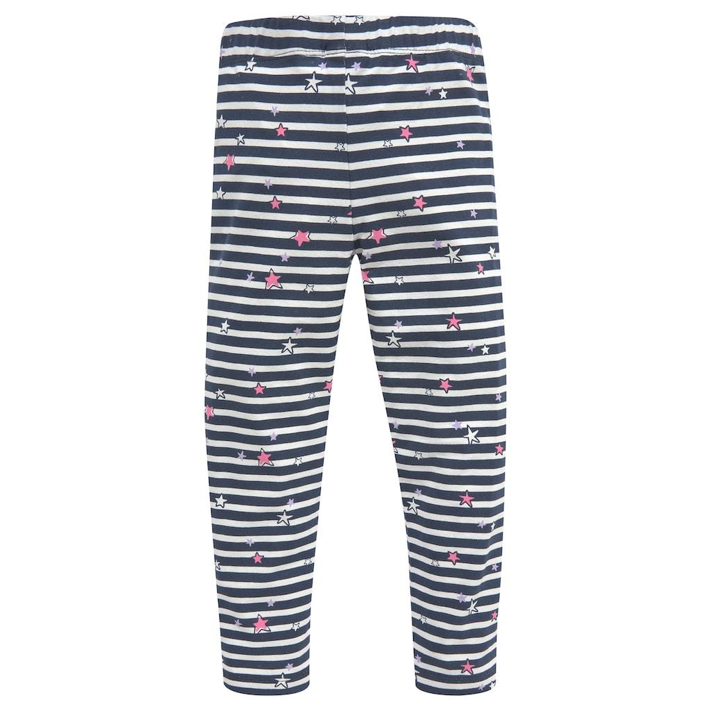 KIDSWORLD Leggings, (Packung, 3er-Pack), mit unterschiedlichen Mustern und Farben