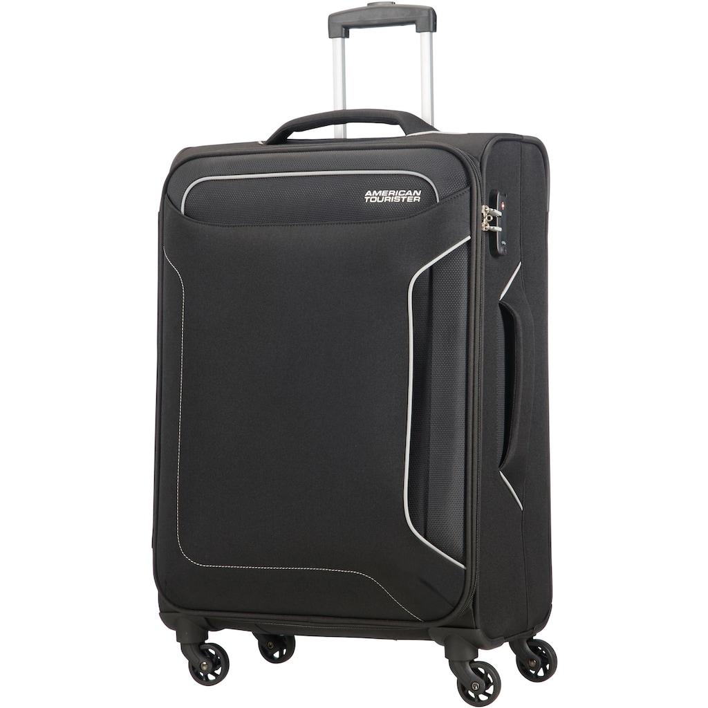 American Tourister® Weichgepäck-Trolley »Holiday Heat, 67 cm, black«, 4 Rollen