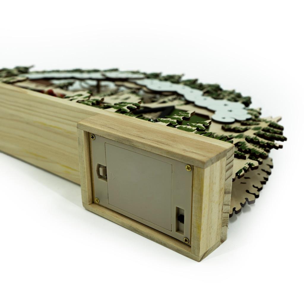 NOOR LIVING Schwibbogen »Schlittenfahrt«, 1 tlg., Länge 36 cm, wahlweise mit Batterie oder Strom