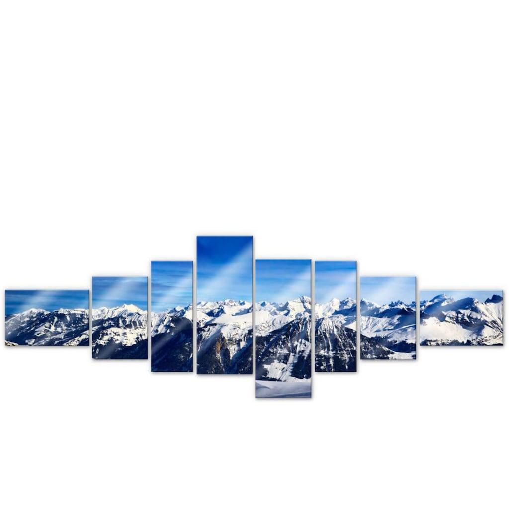 Wall-Art Mehrteilige Bilder »XXL Alpen Panorama (8-teilig)«, (Set, 8 St.)