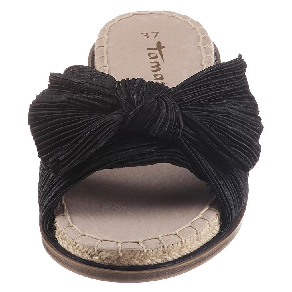 Tamaris Pantolette »PHILINA«, mit modischer Zierschleife