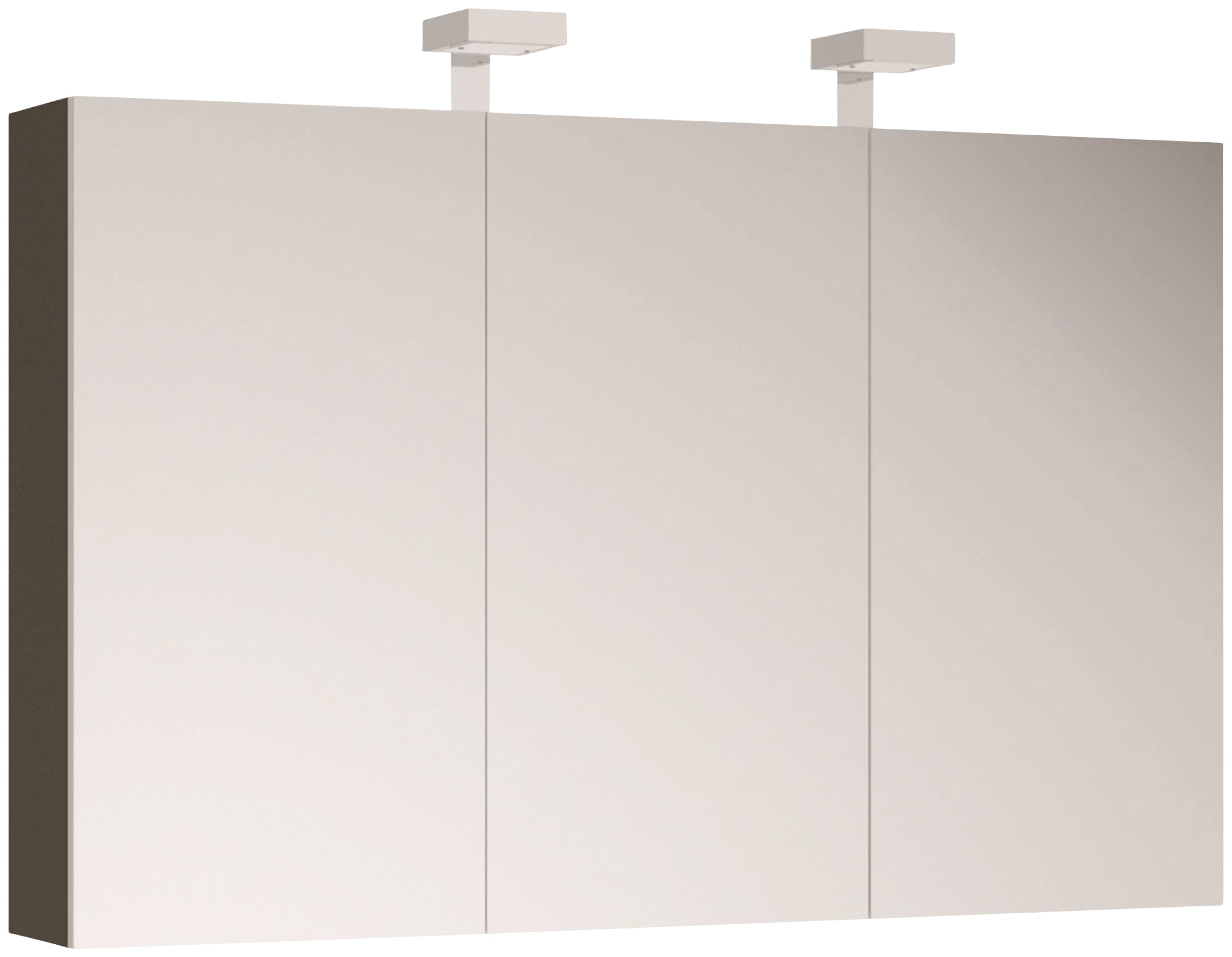 Allibert Spiegelschrank, mit LED-Beleuchtung grau Spiegelschränke Beleuchtung Badmöbel Spiegelschrank