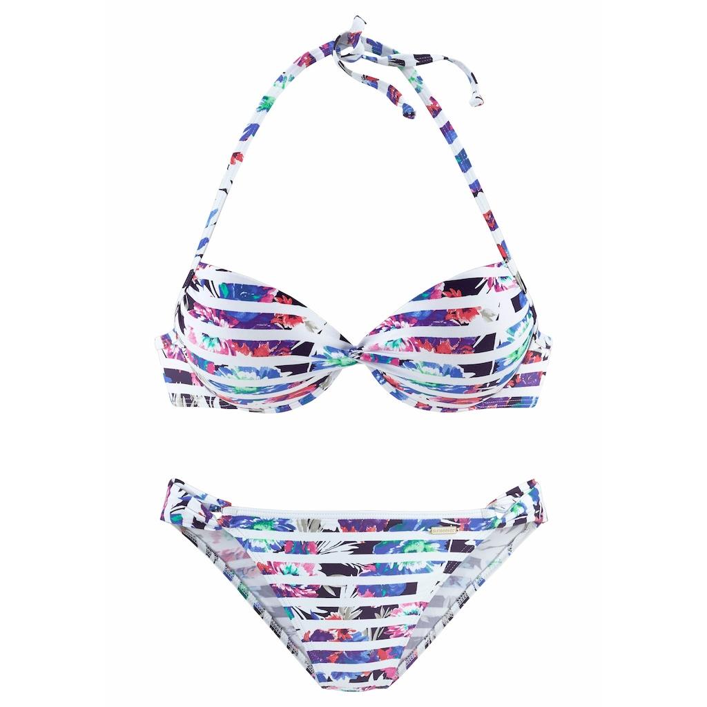 Sunseeker Push-Up-Bikini, mit geraffter Mitte
